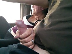 Couple Cumming Together On The Highway