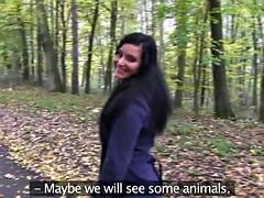 Girlfriends Public pussy eating woodland walk