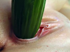 Gina gets her pussy wet by masturbating with fingers and dildo at Give Me Pink