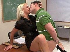 Sexy teacher loves student ramrod