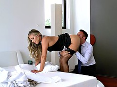 Husband cant stop fucking the maid and his wife doesnt care