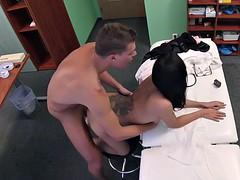 Sexy tattooed Euro patient fucks doctor