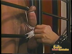Busty brunette harlot enjoys spanking her extremely horny an
