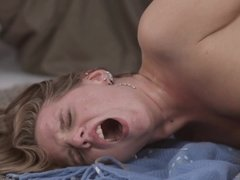Buddy penetrates girlfriend's ass with his phallus