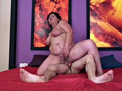 Granny sex with young sexaholic