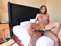 shemale ass support and cum on her face