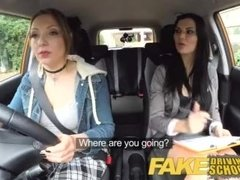Fake Driving School Daddys girl fails her test with strict busty examiner
