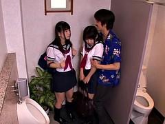 Японки, Молоденькие, Втроем