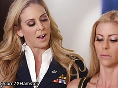 Girlsway Alexis Fawx Spanked by Officer Cherie