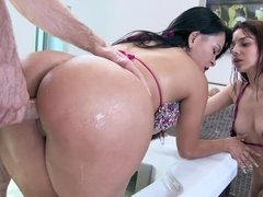 Two curvy sluts Samy and Paola and ready for a thick meat pole