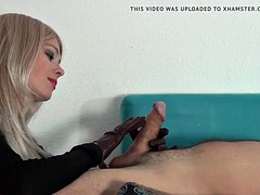 blowjob leather gloves