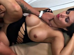 Silvia santez smokin hot latina fucks a guy from expo