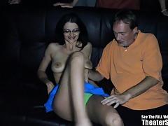 Wild Ass Gokkun Swallowing Theater Gangbang Slut