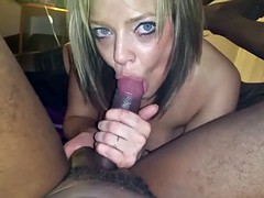 A British MILF sucks a BBC