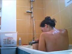 hidden cam shower big tits slut
