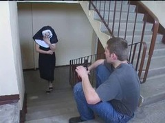 Nun Irina With A pair of Lads