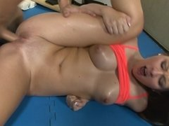 Cali Hayes opens her legs wide for hardcore drilling
