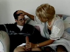 Blonde soccer mom buttsex with young and fresh man