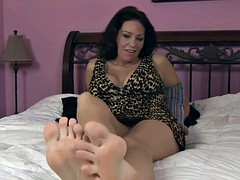 Big tit Tampa MILF Charlie Chase Gets a FootRub and Fucking!