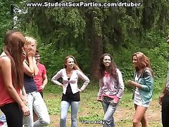 Backdoor fingering at college sex party