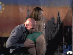 Gorgeous Young Wife Fucked in warehouse