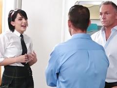 InnocentHigh- School Babe Fucks Both Her Teachers