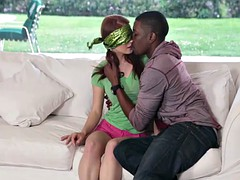 Hot and cute redhead teen blindfolded and fucked hard by BBC
