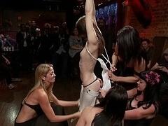 Flexible 18-19 y.o. Sensi Pearl gets tied