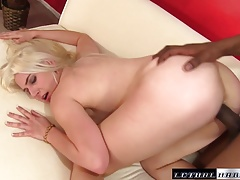 Nikki deep in her 18 year old pussy with ease into a BBC
