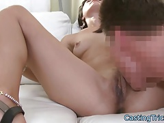 Casting babe creampied on sextape