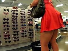 素人, 淫乱熟女, スカートのぞき