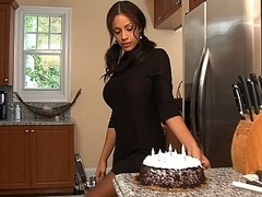 Busty boss and also her birthday idea