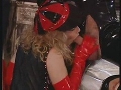 Latex Whore Gives head Hard Penis For...