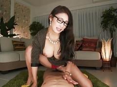 What's her name? Japanese secretary rides & takes creampie