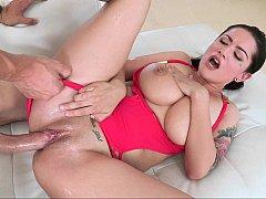 Amazing Katrina Jade sliding on a cock