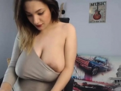 Large breasts blonde spied on and plus reamed