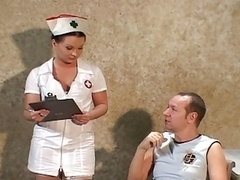 Nurse Getting down and dirty In Stockings and besides Uniform