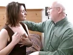 More seasoned Lisa Sucks And Makes love Grandpas Cock