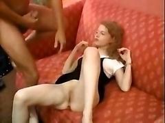 Petite Irish Redhead Spitroasted