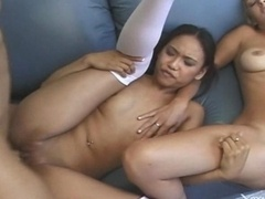 FFM Group intercourse threesome