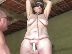 Grown-up Slave Masturbated