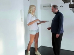 Grown-up Goes Young - Gorgeous blonde comes to her old teacher