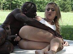 Pleasuring her black lover