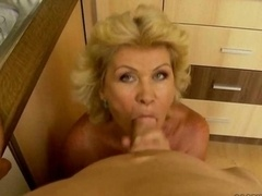 Boobalicious granny in hard Point of view action