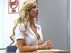 Blonde, Déshabiller, Mignonne, Élève, Se déshabiller, Professeur, Adolescente, Uniforme