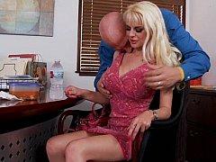 My wife's blonde big titted friend