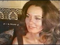 Brunette Gal Gets Nailed Retro Style