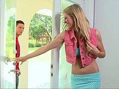 Tall and slender blonde teen Amanda Tate