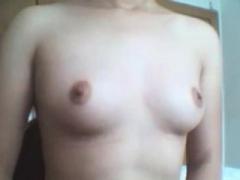 Amateur, Asiatique, Chinoise, Adolescente, Nénés, Webcam