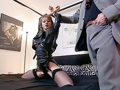 Sinful Brunette In Thigh High Black Boots Gets Banged